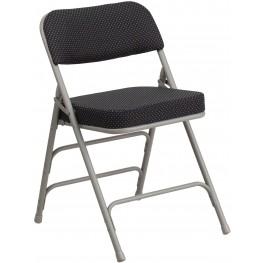 HERCULES Series Premium Pin-Dot Fabric Upholstered Metal Folding Chair