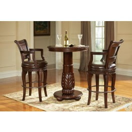 Antoinette Warm Brown Round Pub Set
