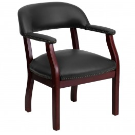 Black Vinyl Conference Chair (Min Order Qty Required)
