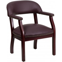 Burgundy Vinyl Conference Chair (Min Order Qty Required)