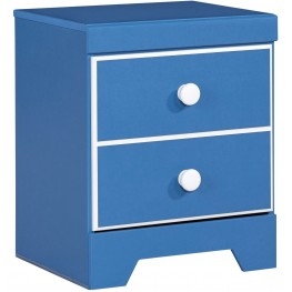Bronilly Blue One Drawer Nightstand