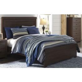 Arkaline Brown Queen Panel Bed