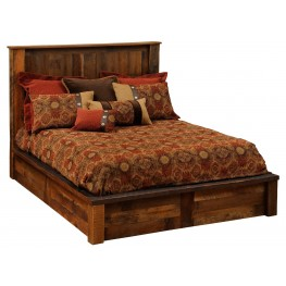 Barnwood Twin Platform Bed