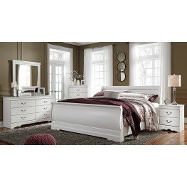 Anarasia White Sleigh Bedroom Set