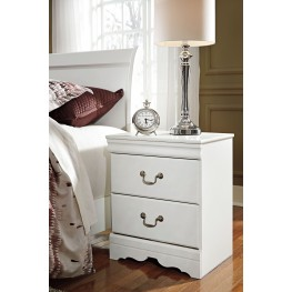 Anarasia White 2 Drawer Night Stand