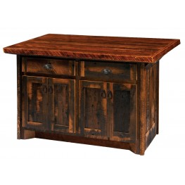 "Barnwood 60"" Artisan Top Kitchen Island"
