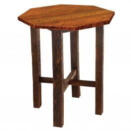 "Barnwood 36"" Artisan Top Octagon Pub Table"