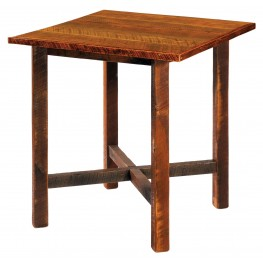 "Barnwood 40"" Artisan Top Square Pub Table"