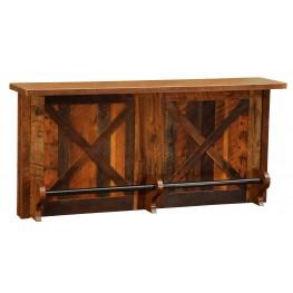 Barnwood 84'' Laminate Top Right Side Bar & Standard Cabinet