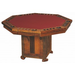 Barnwood 8 Sided Poker Table