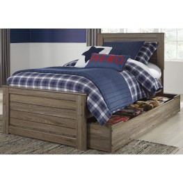 Javarin Grayish Brown Full Trundle Panel Bed