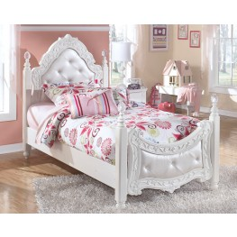 Exquisite Twin Poster Bed With UnderBed Storage