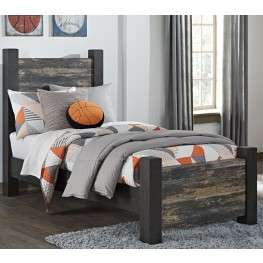 Westinton Black and Brown Twin Poster Bed