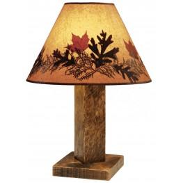 Barnwood Large Shade Table Lamp