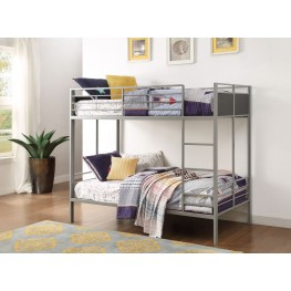 Dex Grey Folding Twin over Twin Bunk Bed