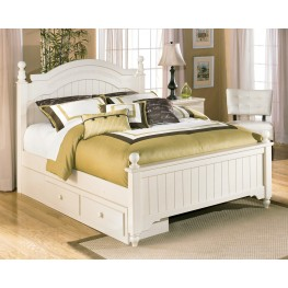 Cottage Retreat Queen Poster Storage Bed