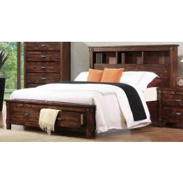 Noble Rustic Oak Cal. King Captain Panel Storage Bed