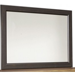 Maxington Black and Reddish Brown Bedroom Mirror