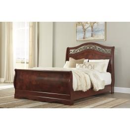 Delianna Brown Queen Sleigh Bed