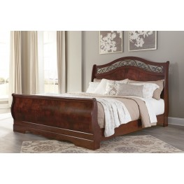 Delianna Brown King Sleigh Bed