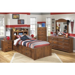 Barchan Youth Bookcase Underbed Storage Bedroom Set