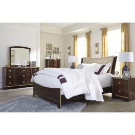 Lenmara Reddish Brown Upholstered Panel Bedroom Set