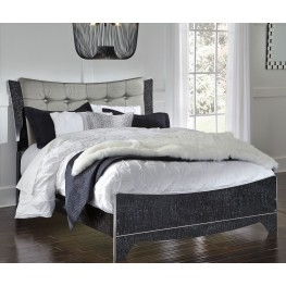 Amrothi Black Queen Panel Bed