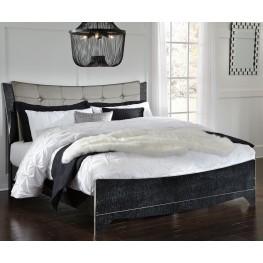 Amrothi Black King Panel Bed
