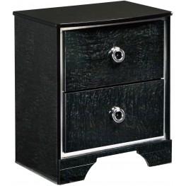 Amrothi Black 2 Drawer Nightstand