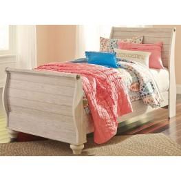 Willowton Whitewash Twin Sleigh Bed