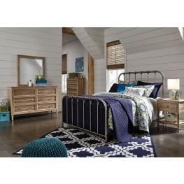 Nashburg Silver Metal Bedroom Set