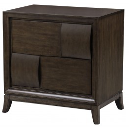 Ribbons Coffee Wood Drawer Nightstand