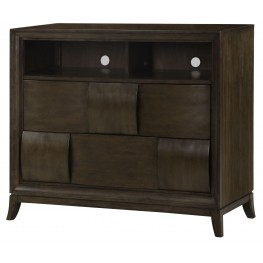 Ribbons Coffee Wood Media Chest