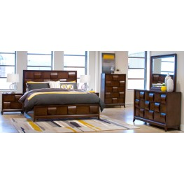 Ribbons Coffee Island Storage Bedroom Set