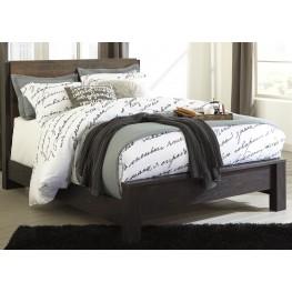 Windlore Dark Brown Queen Panel Bed