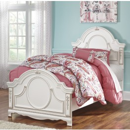 Korabella White Twin Panel Bed