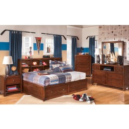 Delburne Youth Bookcase Storage Bedroom Set