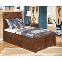 Delburne Full Panel Storage Bed