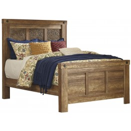 Ladimier Golden Brown King Mansion Bed