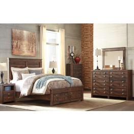 Hammerstead Brown Platform Storage Bedroom Set