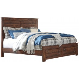 Hammerstead Brown King Platform Storage Bed