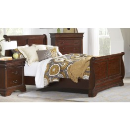 Chateau Vintage Cherry Full Sleigh Bed