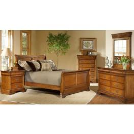 Shenandoah American Oak Sleigh Bedroom Set B4850 51H 51F 51R Largo Furniture