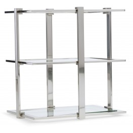 East Village Silver Rectangular Accent Table