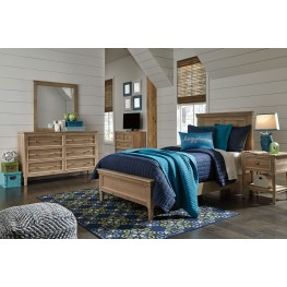 Klasholm Light Brown Youth Panel Bedroom Set
