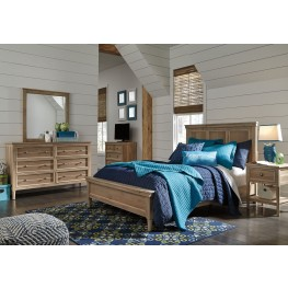 Klasholm Light Brown Panel Bedroom Set