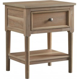 Klasholm Light Brown 1 Drawer Nightstand