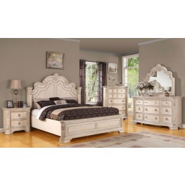 Riviera Alabaster Panel Bedroom Set
