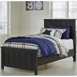 Jaysom Black Twin Panel Bed