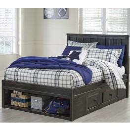 Jaysom Black Twin Panel Storage Bed
